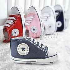 Baby Kids Anti-slip Canvas Sneakers Newborn Infant Toddler Soft Sole Crib Shoes