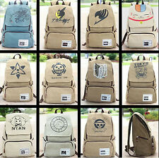 Japanese anime rucksack FAIRY TAIL Attack on Titan canvas backpack school bag