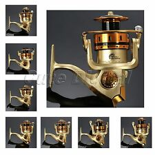 10BB Ball Bearing Saltwater Speed Fishing Spinning Reels Gear Spool 5.1:1 Gold
