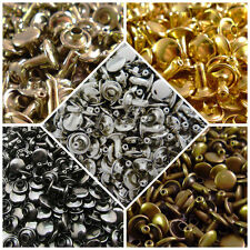 100pcs Double Rivets 6 7 9 mm Rust-Proof Cap Diameter Studs Leather Rapid Rivets