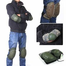 Adjustable Elbow Knee Pad Combat Tactical Military Outdoor Sport Protector Black