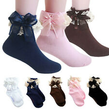 Baby Girls Lace Ruffle Frilly Ankle Socks Sweet Princess Cotton Short Socks EP