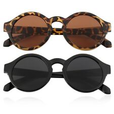Unisex Vintage Retro Women Men Glasses Vintage Round Mirror Lens Sunglasses BN