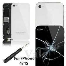 Glass Replacement Back Door for Apple iPhone 4/4S Rear Battery Cover + FREE Tool
