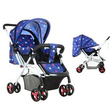 Newest Baby Pram Foldable Pushchair Child Buggy Toddler Swivel Wheels Stroller