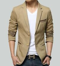 New Fashion Mens Casual Slim fit Suit Blazer Coat Jackets Tops Outerwear
