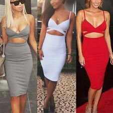 Sexy Women Evening Bandage Bodycon Hollow Dress Clubwear Party Cut Out Cocktail