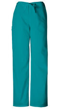 Scrubs Cherokee Workwear Men's Drawstring Cargo Pant Short 4100S TLBW Teal Blue