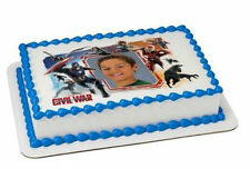 Captain America edible image your photo custom frosting cake topper icing #7824