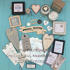 Teacher Gifts - Thank You Signs - School Leaving Presents - East of India 4for3