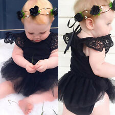 Newborn Kids Baby Girl Infant Romper Jumpsuit Bodysuit Tutu Dress Clothes Outfit