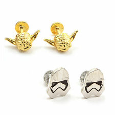 Star Wars Yoda / Stormtrooper Storm Trooper Men's Cufflinks Wedding
