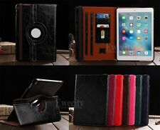 New 360 Rotating Folio Leather Stand Belt Card Slot Smart Case Cover For Apple