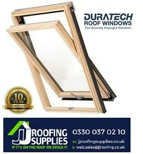 Duratech Wooden Roof Windows Double Glazed 1140 x 1180mm Inc . Flashing
