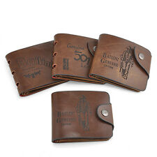 Soft Bifold Wallet Mens Faux Leather Brown Credit/ID Card Holder Slim Purse Gift