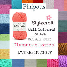 Stylecraft CLASSIQUE COTTON Crochet & Knitting Yarn DK - 50g  *BUY 10 & SAVE 5%*