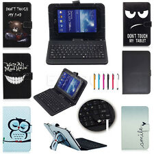 """New Universal Folding USB Keyboard Leather Case Cover For Android Tablet PC 7"""""""