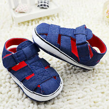 Infant Baby boy Navy Crib shoes sandals sneakers size 0-6 6-12 12-18 months