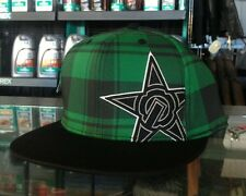 UNIT MENS CAP BASELINE FLEX FIT MX MOTORCROSS SKATE IN GREEN FLAT BILL PEAK