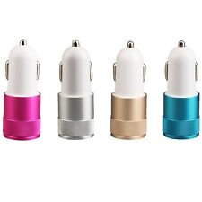Universal Mini In-Car USB Double Port Car Charger Adapter For Mobile Phones MG