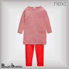 Baby Girls £12 NEXT Newborn Up to 1 Month 0-1-3 Months Red Outfit Top Legging