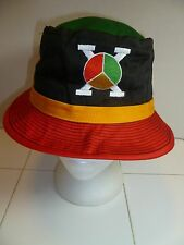 NWOT Malcolm X Peace Symbol Black Red Gold Green Africa Fisherman Bucket Hat