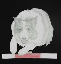 Agility Border Collie Artwork on Canvas and Cotton Bags Black, Blue or Natural