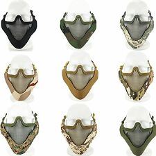Airsoft Tactical Paintball Metal Mesh Half Face Mask Guard Protective Gear #GY