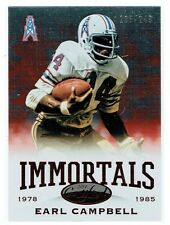 EARL CAMPBELL 2014 Panini Certified Immortals Mirror Red Parallel #/249