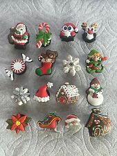 LOT OF CHRISTMAS JIBBITZ CHRISTMAS SHOE CHARMS FITS CROCS CHRISTMAS CLOG CHARMS