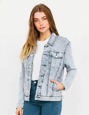 Afends Womens Blue Illusionist Denim Jacket New