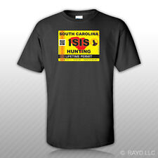 ISIS Terrorist South Carolina State Hunting Permit T-Shirt Tee Shirt SC