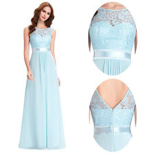 STOCK Evening Cocktail Dress Party Gown Formal Bridesmaid Prom Long Chiffon Ball