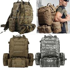 Outdoor Tactical Military Hiking Trekking Molle Assault Rucksack Backpack 65L