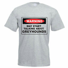 WARNING MAY START TALKING ABOUT GREYHOUNDS - Dog / Funny Gift Idea Mens T-Shirt