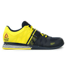 Reebok Crossfit Lifter 2.0 Navy/Yellow U-Form Lifting Shoes M45395 NEW!