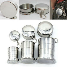 S/M/L Stainless Steel Travel Camping Folding Collapsible Drink Cup Portable Mug