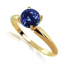 Tanzanite Solitaire  Ring 14k Yellow or White Gold