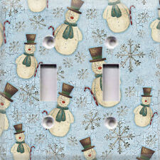 Christmas Country Snowmen ~Light Switch Cover~Home Decor~Choose Your Plate~
