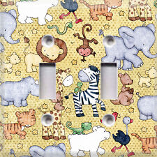 Baby Safari Animals~Light Switch Cover~Home Decor~Choose Your Plate~Kids Room~