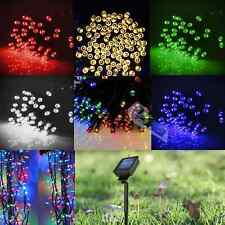 12M Solar Power 100 LEDs Fairy String Light Lamp Xmas Party Wedding Garden Decor