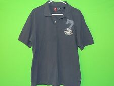 Chaps Ralph Lauren Men's Size L Large Marine Crew Short Sleeve Polo Style Shirt
