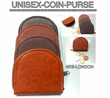 MENS COIN WALLET PURSE COIN CHANGE POUCH TRAY BLACK BROWN TAN COLOURS COIN PURSE