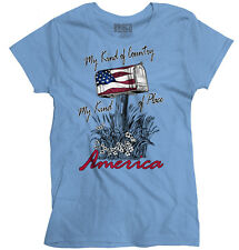 My Country Town Bald USA T Shirt American Flag Vintage Gift Ladies T-Shirt
