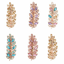 Crystal Leaf Hair Clip Barrette Hairpin Clamp Hairpin Hair Accessories BG