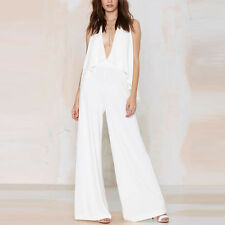 Womens Sexy Casual Clubwear Playsuit Wide Leg Pant Sleeveless Jumpsuit Romper