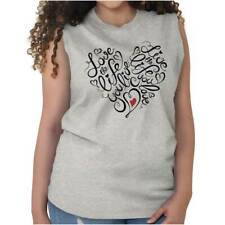 Love Life You Live Women Shirts Funny Picture Shirt Gift Cool Sleeveless Tee