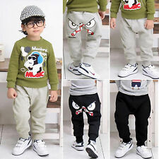 Children Toddler Boy Girl Monsters Harem Pants Casual Kid Long Trousers 2-7Years