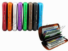 Anodized aluminium Metal business ID credit card case holder pocket RFID fuction