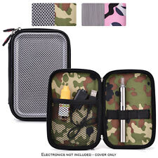 Hard Shell Protective Zipper Case for Personal Vape Vaporizer Pen & Batteries
